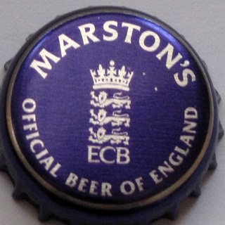 W. Brytania, Marston's, ECB Official Beer of England violet.jpg