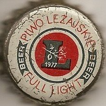 Polska, Lezajsk, Piwo Lezajskie L 1977 Full Light Beer.jpg